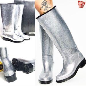6hrSale NWT HTF Dolls Kill Melissa Glass Rain Boot